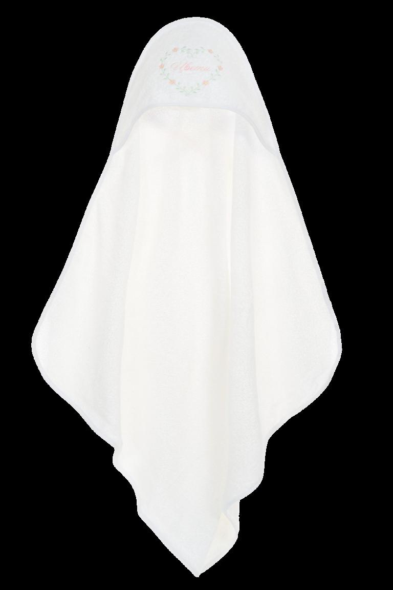 Персонализирана хавлиена кърпа за бебе с избродирано име