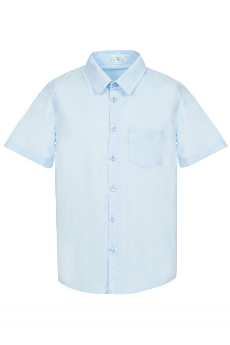 Риза Оксфорд Момчета къс ръкав