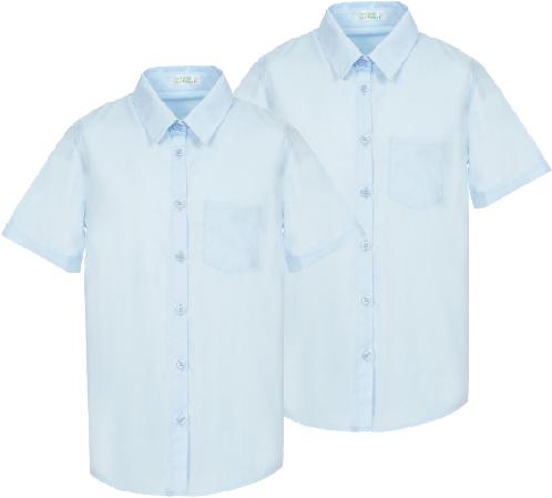 Комплект от две ризи Оксфорт с къс ръкав за момче