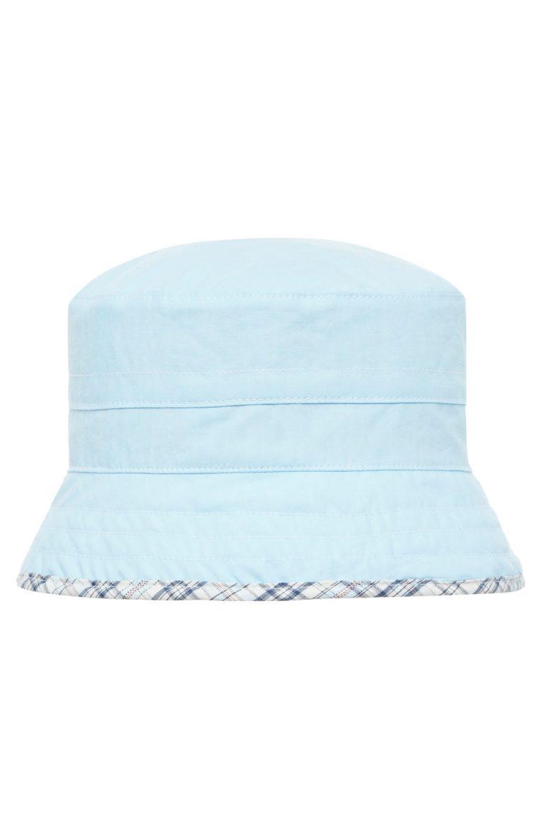 Слънцезащитна двулицева шапка Sаfari- blue UPF 30+