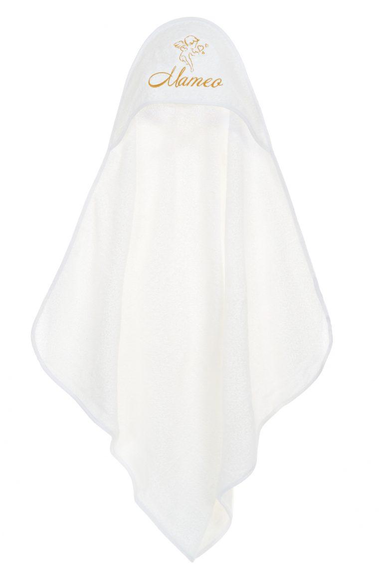 Персонализирана бебешка кърпа/хавлия за бяня подходяща за кръщене