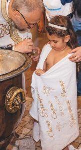 Кърпа-хавлия за кръщене бебе ангелче - 3