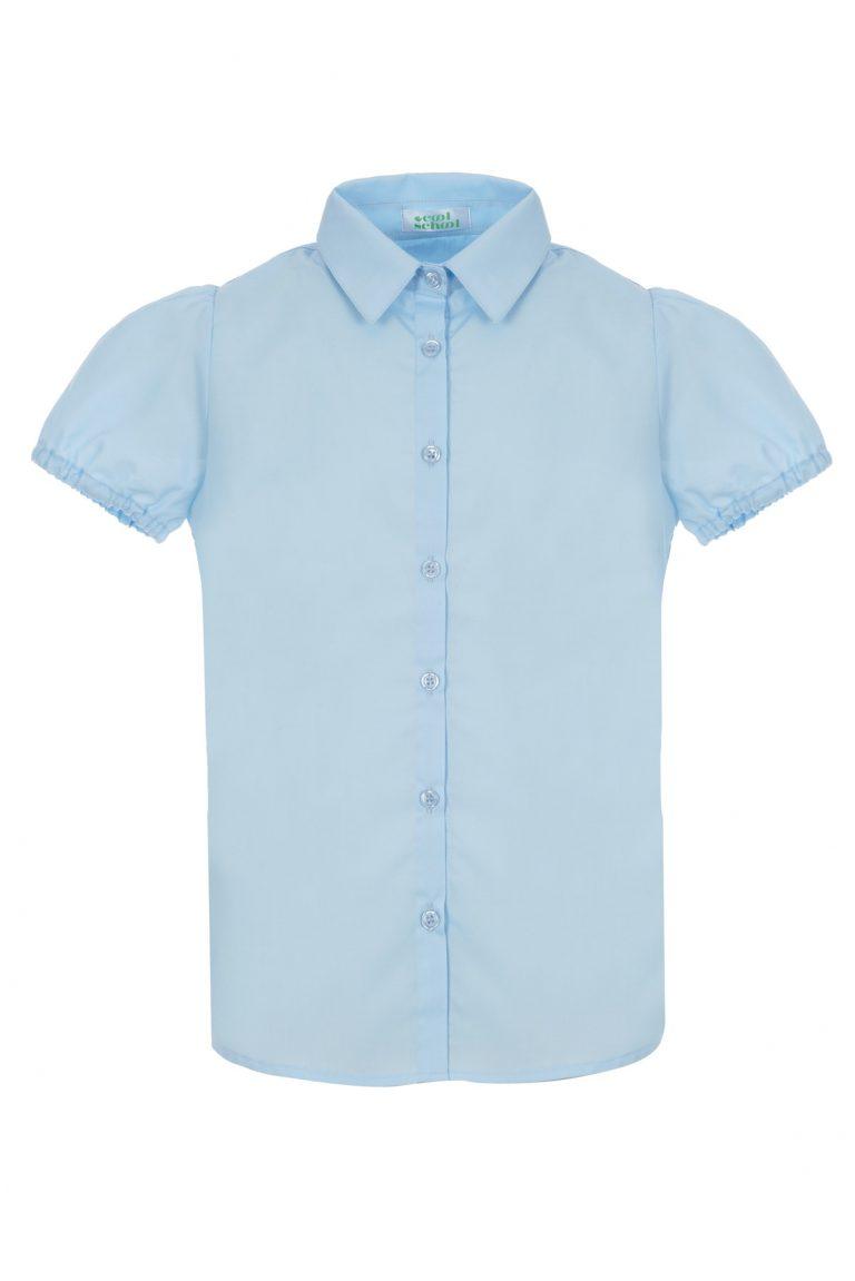 Риза Puff Sleeves Момичета с къс ръкав