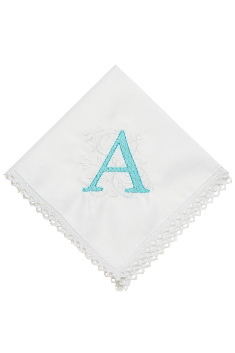 Луксозен сет салфетки за маса с избродиран монограм