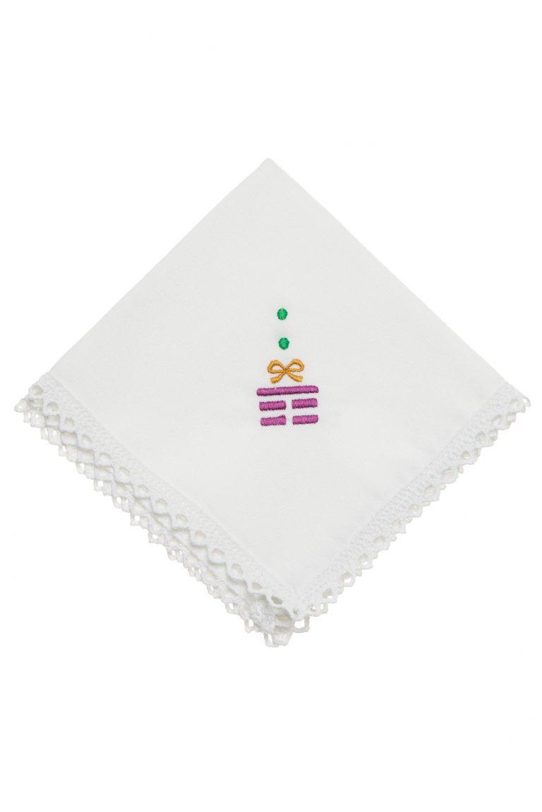 Сет празнични  бродирани  салфетки за маса - коледен подарък